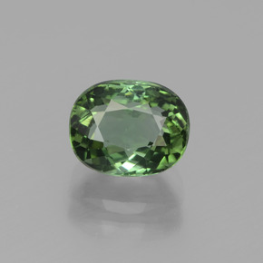 2.31 ct Oval Facet Green Tourmaline Gemstone 8.14 mm x 6.5 mm (Product ID: 441224)