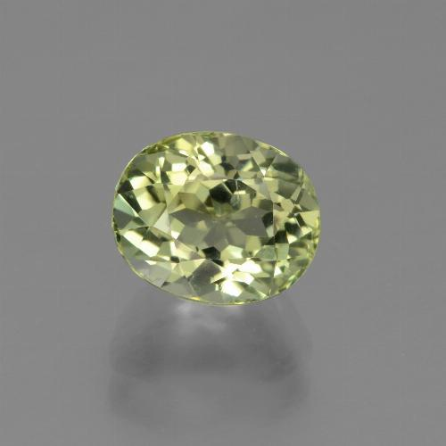 2.31 ct Oval Facet Green Tourmaline Gemstone 8.31 mm x 6.8 mm (Product ID: 441226)