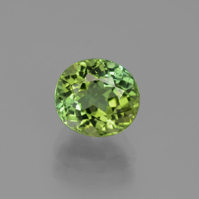 2.04 ct Oval Facet Green Tourmaline Gemstone 7.60 mm x 7 mm (Product ID: 441231)