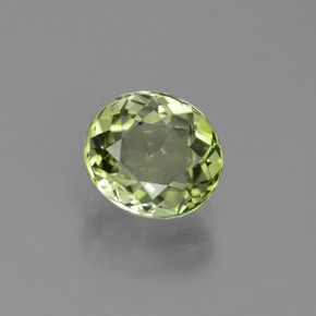 2.02 ct Oval Facet Green Tourmaline Gemstone 8.04 mm x 7.1 mm (Product ID: 441233)