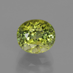 2.1ct Oval Facet Yellowish Green Tourmaline Gem (ID: 441240)
