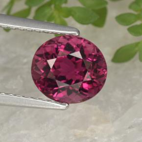 Deep Raspberry Red Tourmaline Gem - 2.5ct Oval Facet (ID: 441262)