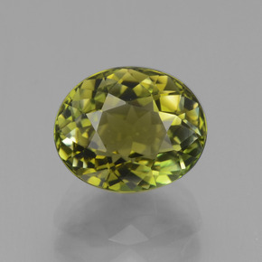 2.9ct Oval Facet Yellowish Green Tourmaline Gem (ID: 441273)