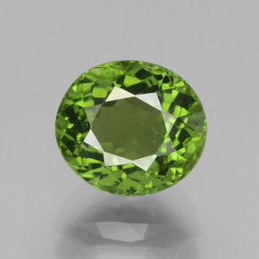 Green Tourmaline Gem - 3.1ct Oval Facet (ID: 441276)