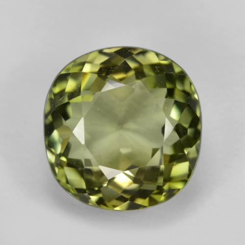 Medium-Dark Green Tourmaline gemme - 6.6ct Coussin-coupe (ID: 446504)