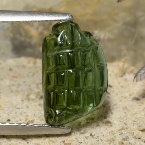 Green Tourmaline Gem - 2.4ct Fancy Fantasy Carving (ID: 474710)