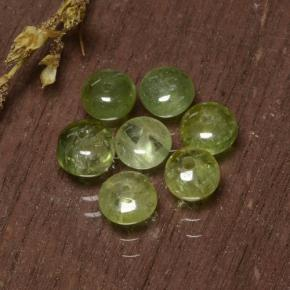 Yellowish Green Tourmaline Gem - 0.4ct Rondelle (ID: 480864)