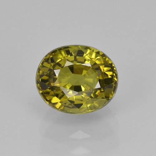 2ct Oval Facet Yellowish Green Tourmaline Gem (ID: 504009)