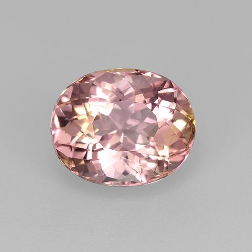 1.4ct Oval Facet Light Candy Apple Red Tourmaline Gem (ID: 522273)