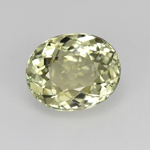 2.3ct Oval Facet Pale Lime Green Tourmaline Gem (ID: 522570)