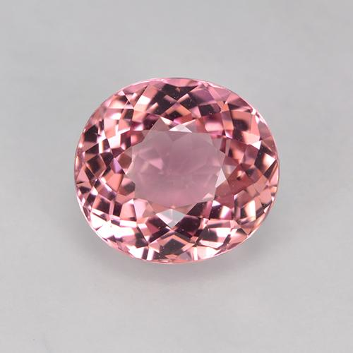 Pinkish Rose Tourmaline Gem - 1.7ct Oval Portuguese-Cut (ID: 523200)