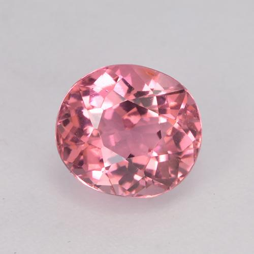 1.3ct Oval Facet Hot Pink Tone Tourmaline Gem (ID: 525626)