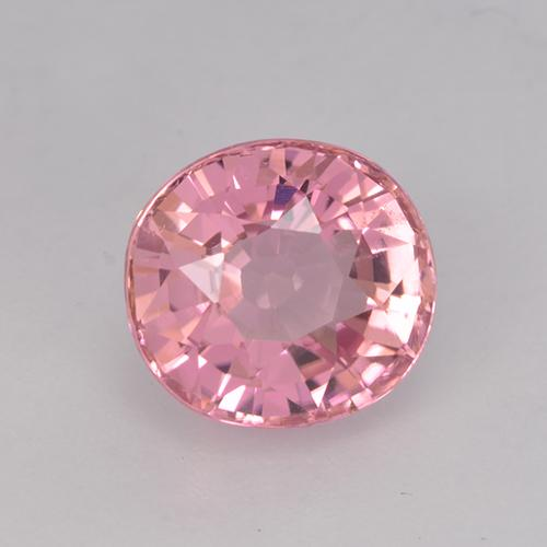 1.8ct Oval Facet Hot Pink Tone Tourmaline Gem (ID: 525629)