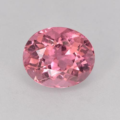1.6ct Oval Facet Hot Pink Tone Tourmaline Gem (ID: 525635)