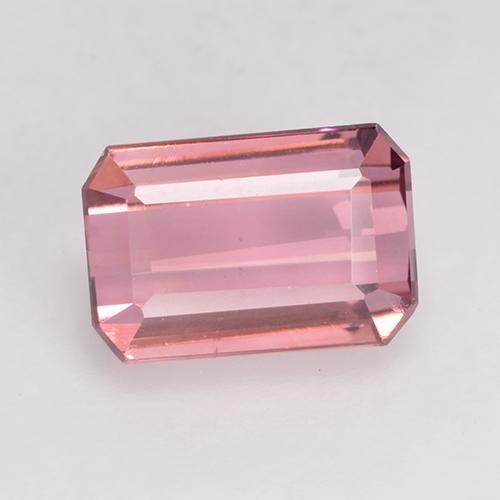 1.5ct Octagon Facet Hot Pink Tone Tourmaline Gem (ID: 529082)