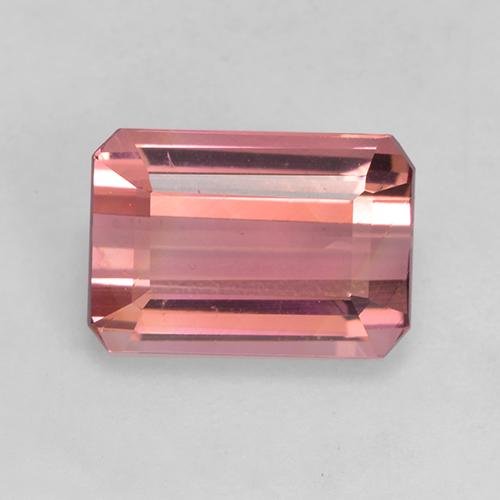 2.5ct Octagon Facet Deep Orange Pink Tourmaline Gem (ID: 531545)