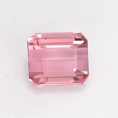 1ct Octagon Facet Light Pink Tourmaline Gem (ID: 533196)