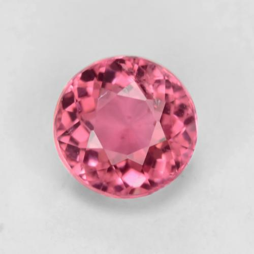 Fruit Punch Red Turmalina Gema - 0.5ct Faceta Redonda (ID: 542949)