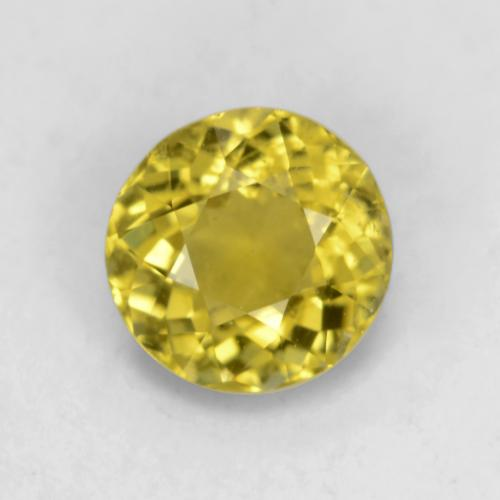 Medium Yellow Turmalina Gema - 0.6ct Faceta Redonda (ID: 542950)