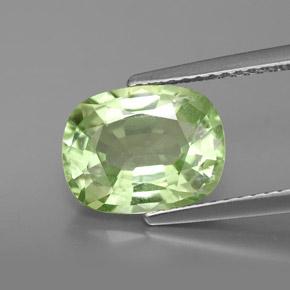 Light green gemstone tsavorite garnet 3 4 carat cushion from tanzania