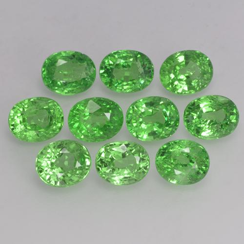 0.4ct Oval Facet Warm Green Tsavorite Garnet Gem (ID: 143929)