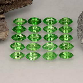 Chrome Green Tsavorite Garnet Gem - 0.2ct Marquise Facet (ID: 261570)
