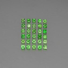 Green Tsavorite Garnet Gem - 0.1ct Princess-Cut (ID: 346222)