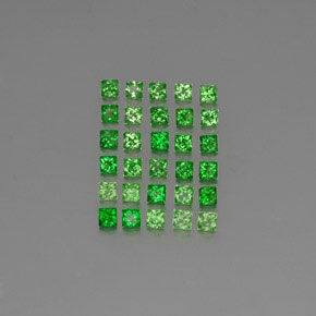 Green Tsavorite Garnet Gem - 0.1ct Princess-Cut (ID: 346230)