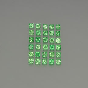Green Tsavorite Garnet Gem - 0.1ct Princess-Cut (ID: 346284)
