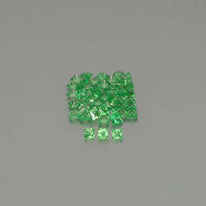 Green Tsavorite Garnet Gem - 0.1ct Princess-Cut (ID: 346287)