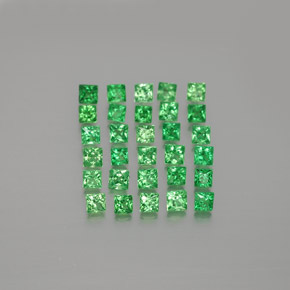 Green Tsavorite Garnet Gem - 0.1ct Princess-Cut (ID: 346484)