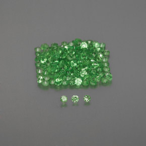 Green Tsavorite Garnet Gem - 0ct Diamond-Cut (ID: 373468)