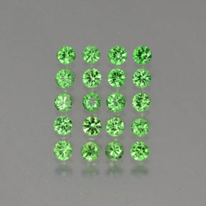 Green Tsavorite Garnet Gem - 0.1ct Diamond-Cut (ID: 380284)