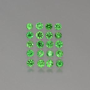 Green Tsavorite Garnet Gem - 0.1ct Diamond-Cut (ID: 380287)