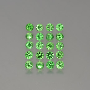 Medium Green Granate Tsavorita Gema - 0.1ct Corte Diamante (ID: 380289)
