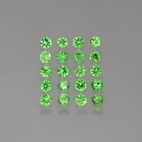 Green Tsavorite Garnet Gem - 0.1ct Diamond-Cut (ID: 380291)