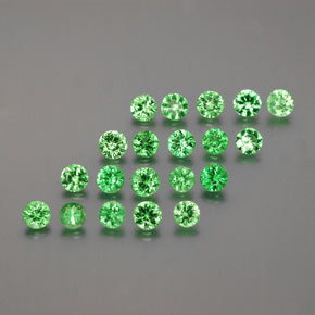 Medium Green Tsavorite Garnet Gem - 0.1ct Diamond-Cut (ID: 380360)