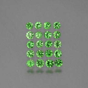 Green Tsavorite Garnet Gem - 0.1ct Diamond-Cut (ID: 380561)