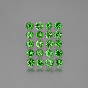 Medium Green Granate Tsavorita Gema - 0.1ct Corte Diamante (ID: 380562)