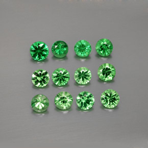 Green Tsavorite Garnet Gem - 0.3ct Diamond-Cut (ID: 380640)