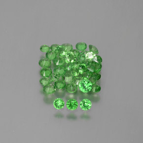Green Tsavorite Garnet Gem - 0.1ct Diamond-Cut (ID: 380684)