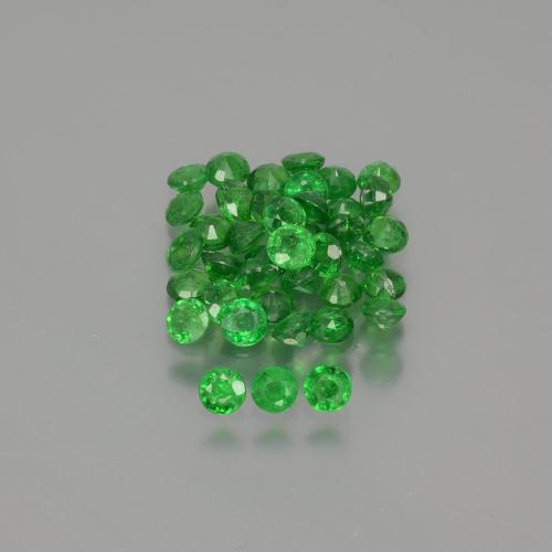 Green Tsavorite Garnet Gem - 0.1ct Round Facet (ID: 389845)