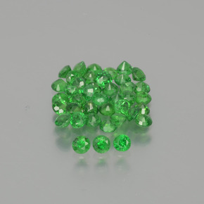 Green Tsavorite Garnet Gem - 0.1ct Round Facet (ID: 389847)
