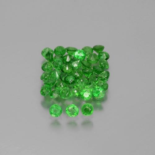 Green Tsavorite Garnet Gem - 0.1ct Round Facet (ID: 389918)