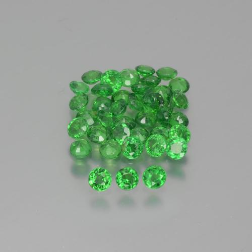 Green Tsavorite Garnet Gem - 0.1ct Round Facet (ID: 390053)