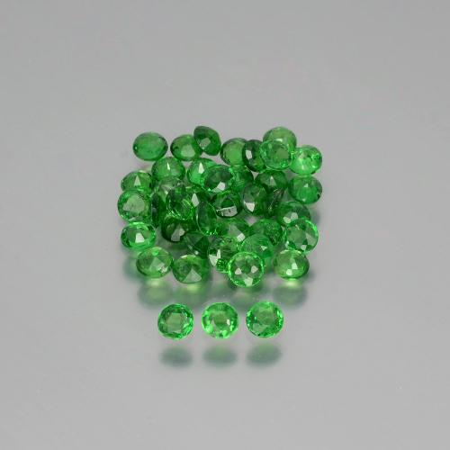 Green Tsavorite Garnet Gem - 0.1ct Round Facet (ID: 390218)