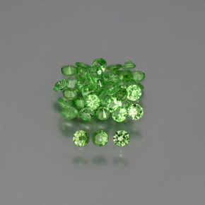 0ct Diamond-Cut Green Tsavorite Garnet Gem (ID: 395788)
