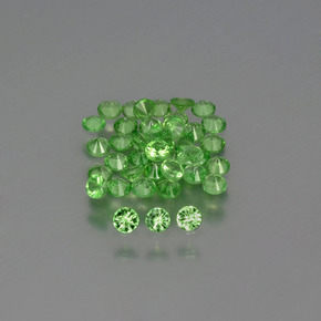 0ct Diamond-Cut Green Tsavorite Garnet Gem (ID: 395794)