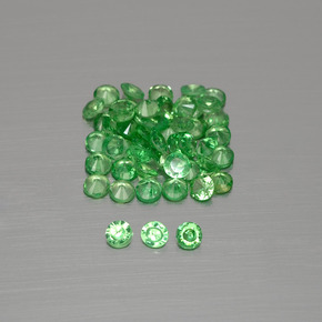 thumb image of 0ct Diamond-Cut Green Tsavorite Garnet (ID: 396100)