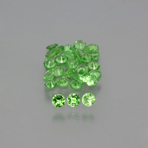 0ct Diamond-Cut Green Tsavorite Garnet Gem (ID: 398621)